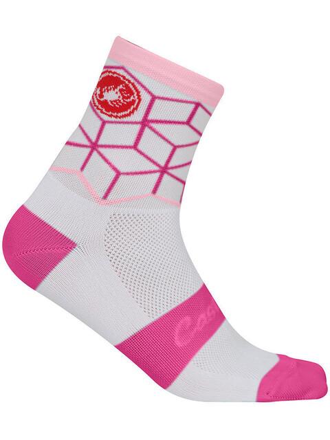Castelli Vertice Socks Women white/raspberry
